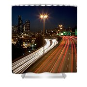 Interstate Traffic In Seattle Washington Shower Curtain