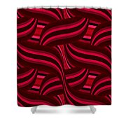 Intertwined Red Abstract Shower Curtain