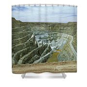 Inti Raymi Gold Mine Quarry In Oruro Shower Curtain