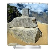 Inti Watana Stone Calendar At Machu Picchu Shower Curtain