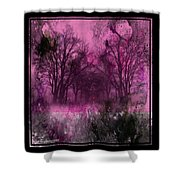 Into A Dark Pink Forest Shower Curtain