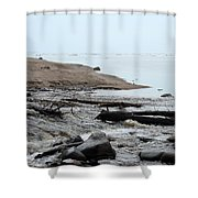 Into Lake Superior Shower Curtain