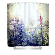 We Drifted Into Silence And Never Came Back  Shower Curtain