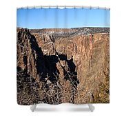 Into The Black Canyon Shower Curtain