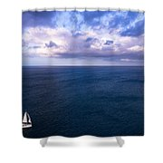 Into The Blues Shower Curtain