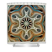 Into The Cortex Shower Curtain