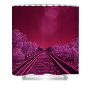 Into The Darkness Of Light Shower Curtain