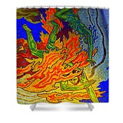 Into The Flames Of Hell Shower Curtain