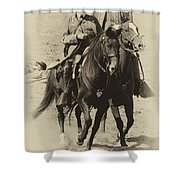 Into The Fray - Confederate Generals Shower Curtain