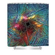 Into The Galaxy Shower Curtain