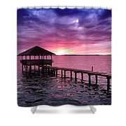 Into The Horizon Shower Curtain