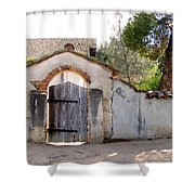 Into The Light, Mission San Miguel Archangel, California Shower Curtain