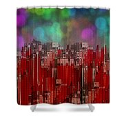 Into The Night Sky Shower Curtain