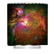 Into The Orion Nebula Shower Curtain by Jennifer Rondinelli Reilly - Fine Art Photography