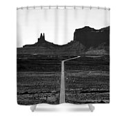 Into The Valley Of Monuments Shower Curtain