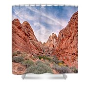 Into Valley Of Fire Shower Curtain