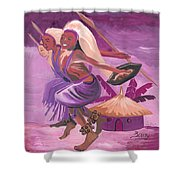 Intore Dance From Rwanda Shower Curtain