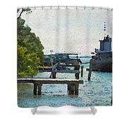 Intracoastal Ship Shower Curtain