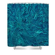 Intricate Blue Shower Curtain