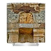 Intricate Carving At Wat Mahathat In 13th Century Sukhothai Hist Shower Curtain
