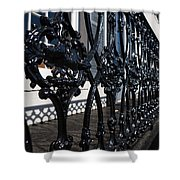 Intricate Georgetown Shapes And Shadows - Washington D C  Shower Curtain