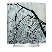Intricate Ice Curtains Shower Curtain