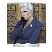 Intrigue Palm Springs Shower Curtain