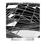 Introversion Five Shower Curtain