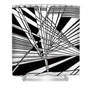 Introversion Four Shower Curtain