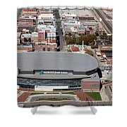 Intrust Bank Arena And Old Town Wichita Shower Curtain