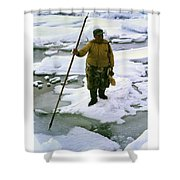 Inuit Seal Hunter Barrow Alaska July 1969 Shower Curtain