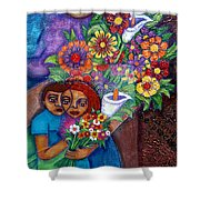 Invention Of Love Closer Shower Curtain