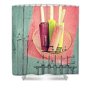 Invention Of The Ice Pop Shower Curtain