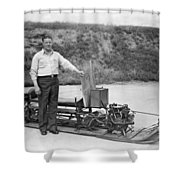 Inventor Of First Snowmobile Shower Curtain