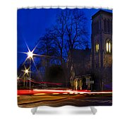 Inverness Cathedral At Night Shower Curtain