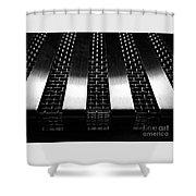 Inversion Shower Curtain by James Aiken