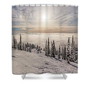 Inversion Sunset Shower Curtain