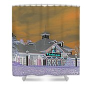 Invert Of The Apple Barn's Christmas Shop In Pigeon Forge Tennessee Shower Curtain