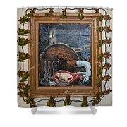 Invidious Tree In Opera Gloves - Framed Shower Curtain