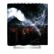 Invisibles Visiters From Beyond Flying In Over Night  Shower Curtain