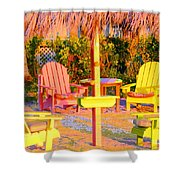 Invitation To Florida Sunset Shower Curtain
