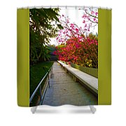 Inviting Garden Alley Shower Curtain