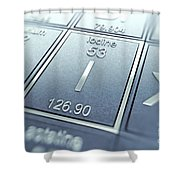 Iodine Chemical Element Shower Curtain