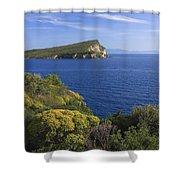 Ionian Sea Coast Albania Shower Curtain