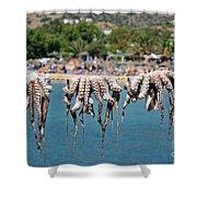 Mylopotas Beach Shower Curtain