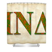Iota Nu Delta - Parchment Shower Curtain