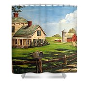 Cherokee Iowa Farm House Shower Curtain
