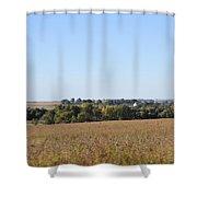 Iowa Fields Shower Curtain