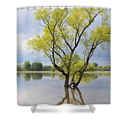Iowa Flood Plains Shower Curtain