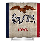 Iowa State Flag Shower Curtain by Pixel Chimp